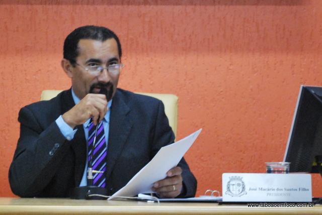Macário na época em que presidia a Câmara Municipal de Taboão da Serra em 2011.