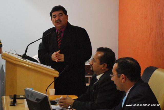 Vereador Paulo Félix defende o afastamento do prefeito de Taboão da Serra, Dr. Evilásio Farias
