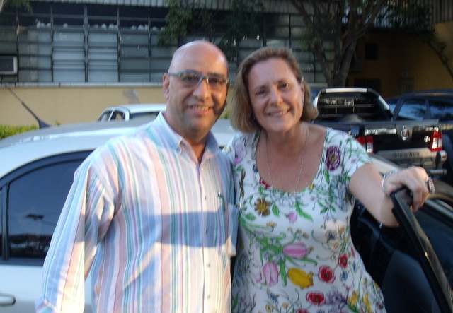 Atriz Elizabeth Savala e o Jornalista Eduardo Novaes