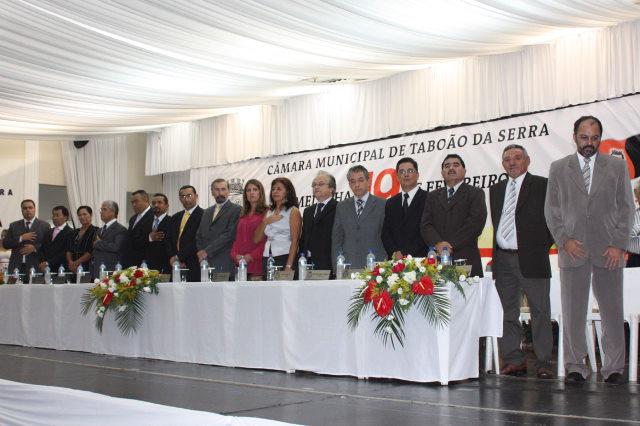 Sessão solene em homenagem ao aniversário de Taboão da Serra. (Foto: Eduardo Toledo / Divulgação)