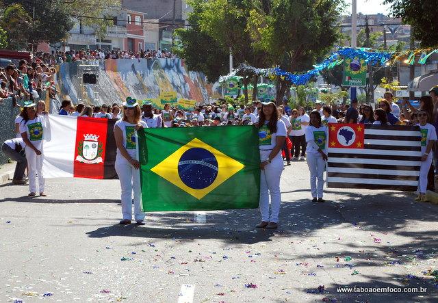 Bandeiras no Desfile 7 de Setembro
