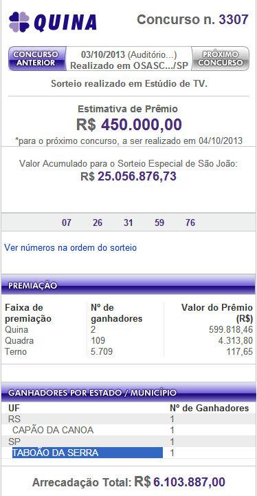Loteria Quina