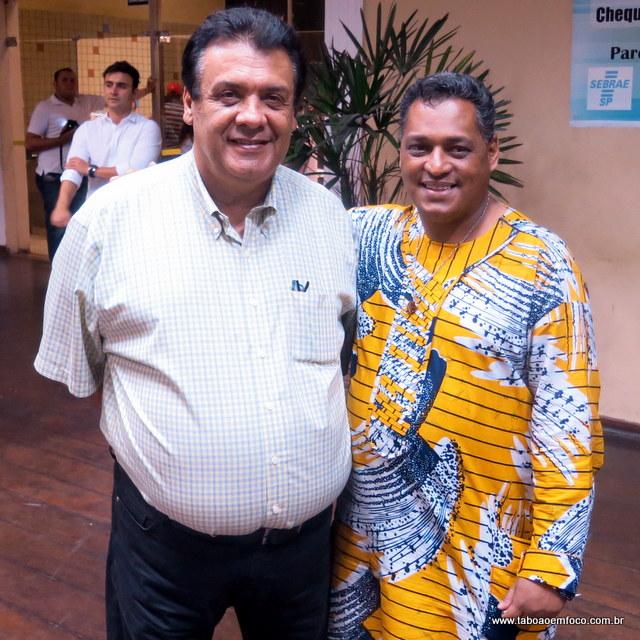 Prefeito Fernando Fernandes e o coordenador da Cepir Sousa Santos no Cemur