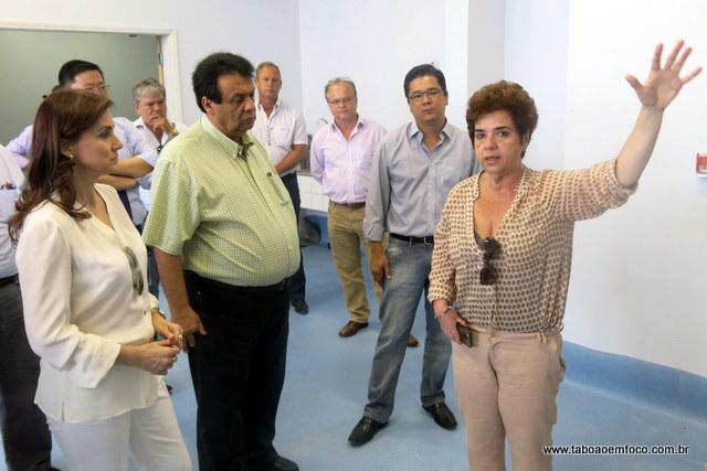 Secretária de Saúde Raquel Zacainer detalhas as obras no PS da Antena.