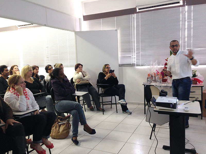 Palestra dos alunos da Organização de Eventos aconteceu na Escola de Gastronomia (foto – divulgação)