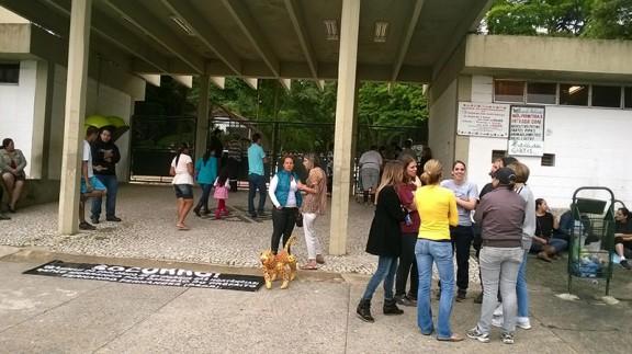 Mesmo com manifestação cancelada ativistas comparecem ao Parque -