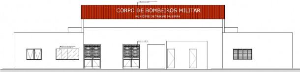 Fachada de como será o Corpo de Bombeiros em Taboão da Serra. (Reprodução)