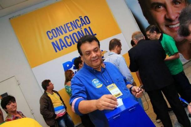 Prefeito Fernando Fernandes durante convenção nacional do PSDB em São Paulo. (Foto: Reprodução / Facebook Fernando Fernandes)