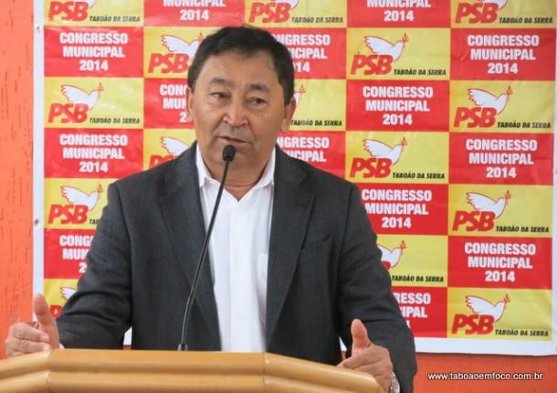 José Aprígio é eleito presidente do PSB de Taboão da Serra.