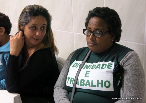 Lilian Guedes e Selma Fátima conversam sobre o processo eleitoral no SindTaboão.