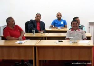 Presidentes de partidos políticos durante evento do PSB em Taboão da Serra.