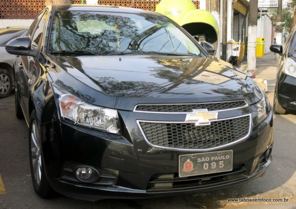 Carro oficial do deputado Luiz Carlos Marcolino recuperado pela GCM de Taboão da Serra.