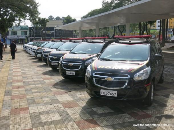 A GCM ganhou 14 novas viaturas que farão o patrulhamento em Taboão da Serra. Os antigos veículos eram alugados e foram devolvidos.