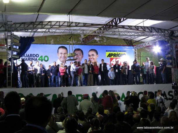 Cerca de mil pessoas participaram do lançamento da candidatura de Aprígio a deputado federal.