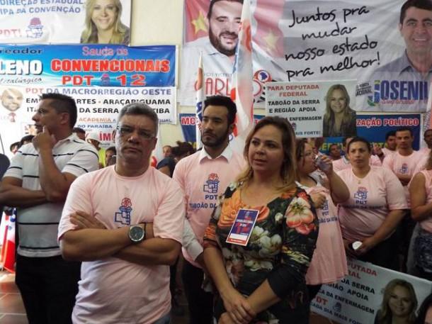 Vereadora Érica na convenção do PDT em São Paulo. Além de confirmada como candidata a deputada estadual, ela discursou no evento. (Foto: Reprodução / Facebook Érica Franquini)