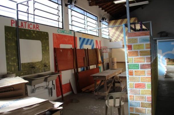 Escola de Construcão Civil de Taboão da Serra oferece cursos de pintor e eletricista. (Foto: Divulgação / PMTS)