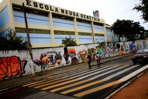 Quatro lombofaixas foram instaladas pela Secretaria de Transportes na Avenida Fernando Fernandes e Arlindo Genário. (Foto: Ricardo Vaz / PMTS)