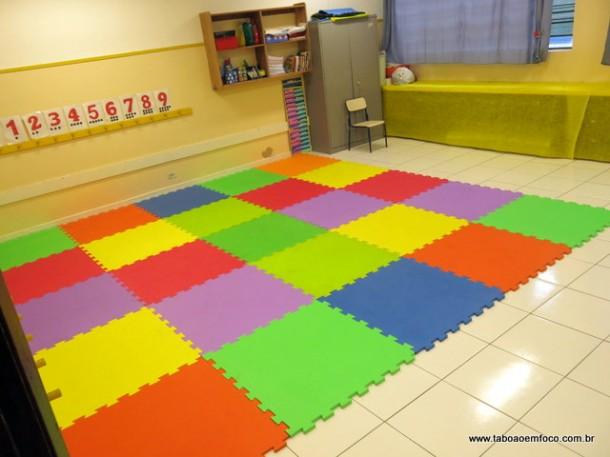 Nova sala de aula da EMI Chico Bento.