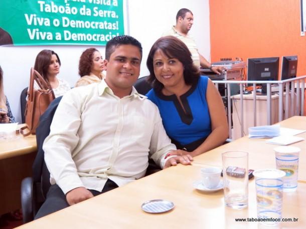 Sandro Ayres e Cris Trajano tomam posse do DEM Jovem e o DEM Mulher.
