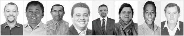 Candidatos a deputado federal oriundos de Taboão da Serra. (Foto: Reprodução / TSE)