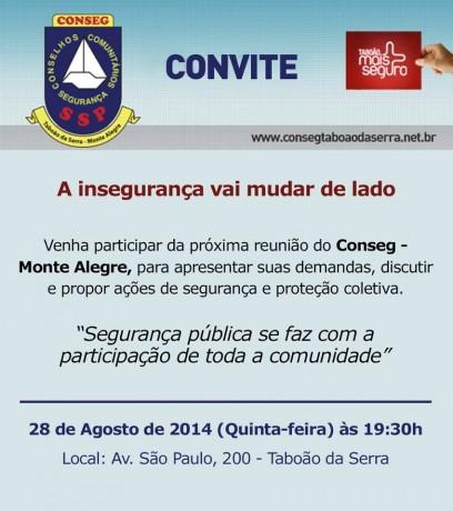 Convite Conseg Monte Alegre