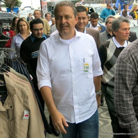 Eduardo Campos fez caminhada na região do Pirajuçara no dia 18 de julho.