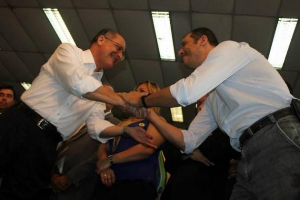 Alckmin vira alvo de críticas do aliado Marco Porta pela crise da água. (Foto: Reprodução / Facebook Vera Lima)