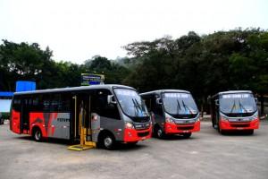 Novos ônibus vão atender a linha 7 nos bairros Intercap, Jardins Três Marias, Mirna, Laguna e Maria Rosa. (Foto: Ricardo Vaz / PMTS)