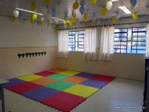 Nova sala de aula na EMI Dorinha, reinaugurada no início de agosto.