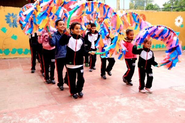 Preparativos para o Desfile do 7 de Setembro já estão acontecendo nas Escolas Municipais. (Foto: Vagner Hernandez / PMTS)
