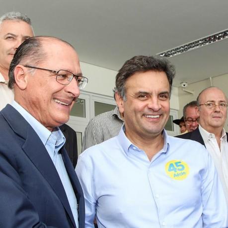 Tucanos Geraldo Alckmin e Aécio Neves vão fazer caminhada em Taboão da Serra na região do Pirajussara. (Foto: Divulgação / Geraldo Alckmin).