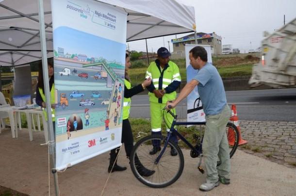 Concessionária fará a instalação gratuita de antenas anticerol nas bicicletas e promoverá ações preventivas de saúde e segurança. (Foto: Divulgação)