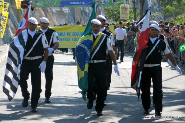 GCM de Taboão da Serra foi um dos destaques do desfile de 7 de setembro.