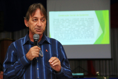 """Eduardo Luiz Barbosa foi um dos palestrantes e discorreu sobre o tema """"Vulnerabilidade"""" (Foto: Ricardo Vaz / PMTS)"""