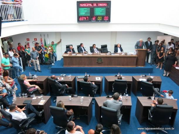 Plenário da nova Câmara de Taboão da Serra ficou lotado.