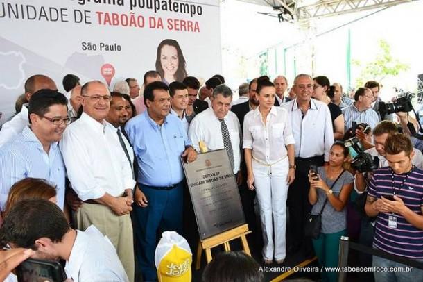 Alckmin, ao lado do prefeito Fernando e da deputada Analice, inauguram Poupatempo de Taboão da Serra