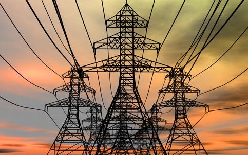 Torre distribuicao energia