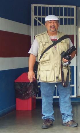 Jornalista André Roberg preparado para realizar o que mais gostava: ir para rua atrás de notícias.