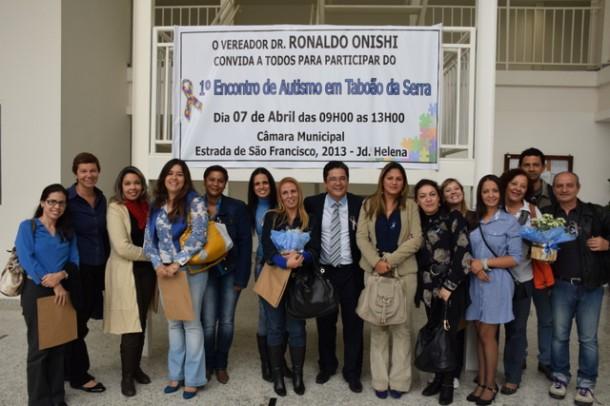 Encontro na Câmara de Taboão da Serra discute o autismo. (Foto: Divulgação / Ronaldo Onishi)