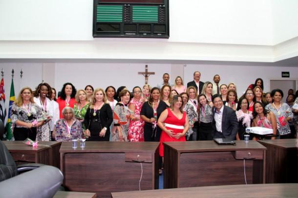 Homenageadas com a medalha Laurita Ortega Mari_CMTS