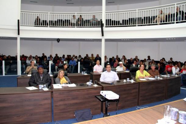 Audiência Pública para discussão de algumas alterações do Plano Diretor. (Foto: Cynthia Gonçalves / CMTS)