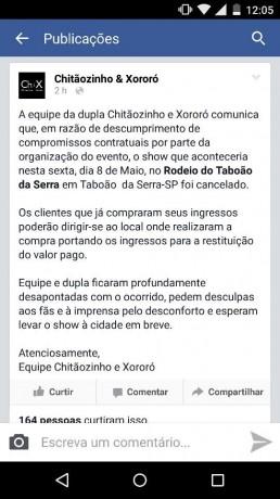 Cancelamento show chitaozinho e Xororo_reproducao