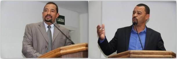Os vereadores Cido e Professor Moreira têm opiniões distintas em relação a mudança no horário das sessões. (Fotos: Cynthia Gonçalves / CMTS)