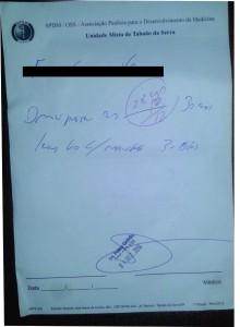 Receita emitida por profissional investigado pela polícia civil. (Foto: Jornal Hoje em Notícias)