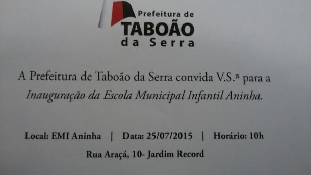convite ANinha Escola