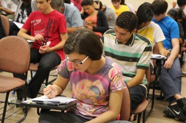 Estudantes realizam a prova do Enem neste final de semana. (Foto: Usp Imagens)