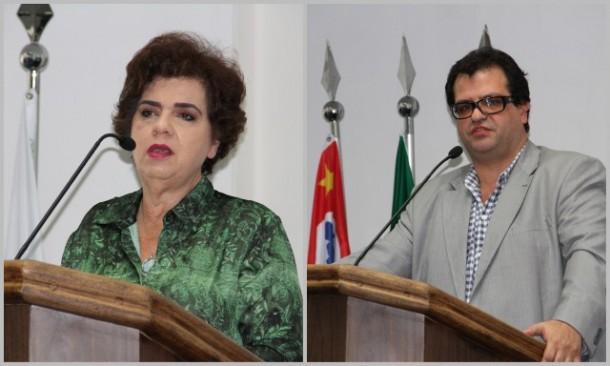 A secretária de saúde Raquel Zacainer e o superintendente da SPDM, que administra os hospitais de Taboão, Jorge Salomão correram da imprensa para evitar questionamentos. (Foto: Cynthia Gonçalves / CMTS)