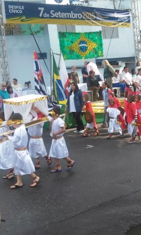 Desfile do Sete de Setembro de 2015 trouxe às Olimpíadas para a avenida