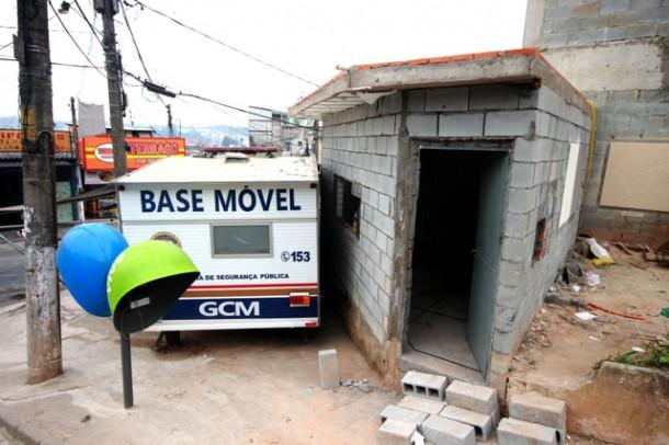 Base fixa da GCM está em processo final das obras para substituir a base móvel que será realocada para outro ponto da cidade. (Foto: Ricardo Vaz / PMTS)