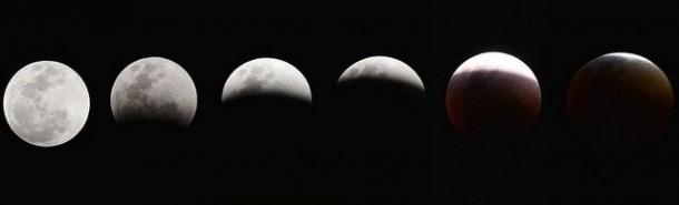 Superlua seguida por um eclipse total. (Foto: Marcello Casal Jr / Agência Brasil)